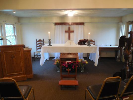 The altar area
