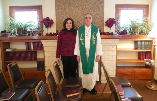 Fr. Paul and Andrea Slish, Fireplace